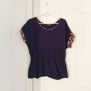 The Webster Miami For Target Navy Short Sleeve Top